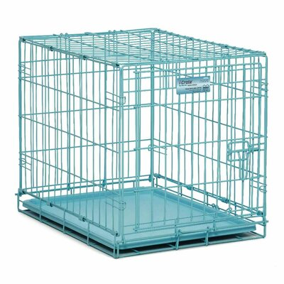 ICrate Single Door Dog Crate Color: Blue