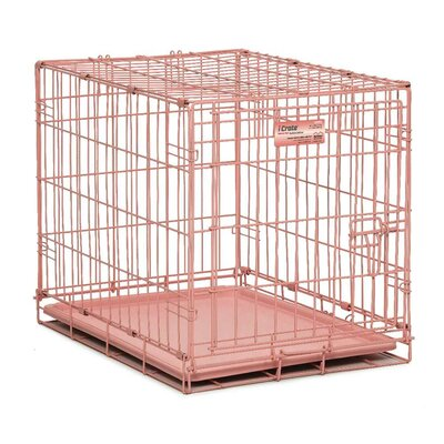 ICrate Single Door Dog Crate Color: Pink