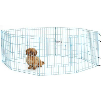 24 Life Stages Pet Exercise Pen Color: Blue