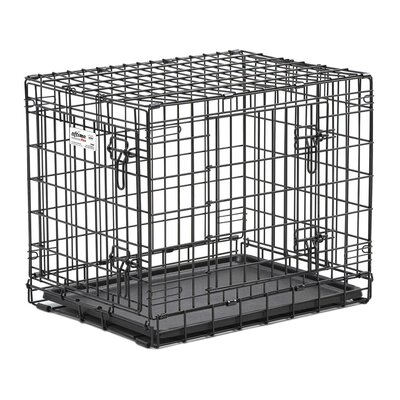 Ultima Pro Fold and Carry Double Door Pet Crate Size: Large (32 H x 29 W x 42 L)