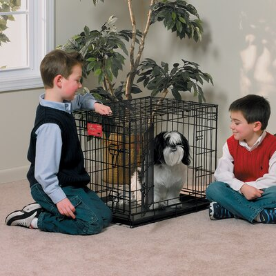 "Midwest Homes For Pets Life Stages Fold & Carry Double-Door Dog Crate - Size: Small - 24"" L x 18"" W x 21"" H at Sears.com"