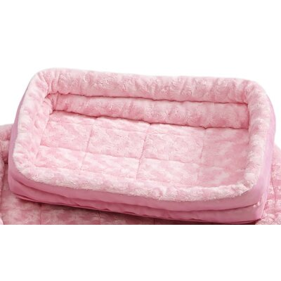 Quiet Time Deluxe Fleece Double Bolster Bed Size: 18 - 20 L x 14 W, Color: Pink