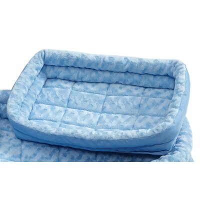 Albert Deluxe Fleece Double Bolster Bed Size: 18 - 20 L x 14 W, Color: Blue
