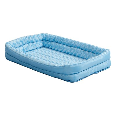 Quiet Time Deluxe Fleece Double Bolster Bed Size: 30 - 34 L x 14 W, Color: Blue