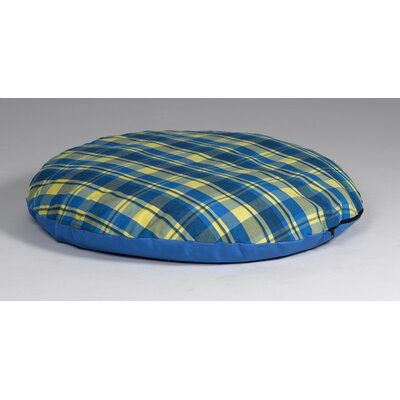 Quiet Time eSensuals Indoor / Outdoor Round Dog Pillow Color: Blue and Yellow Plaid