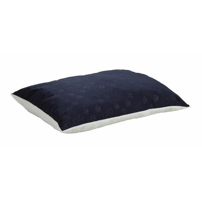 Quiet Time eSensuals Synthetic Sheepskin and Poly-Cotton Encased Extra Stuffed Polyfiber Rectangle Dog Pillow Size: Medium (36 L x 27 W), Color: Navy Blue