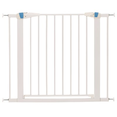 Expands Glow Stripe Pet Gate Size: 29 H x 29 W x 1.13 D, Finish: White