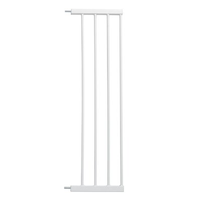 Glow Stripe Pet Gate Extension Size: 29 H x 11 W x 0.78 D, Finish: White