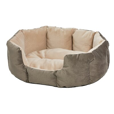 Quiet Time Deluxe Tulip Pet Bolster Color: Gray, Size: 20 W x 25.75 D x 10 H