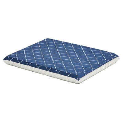 Labrador Quiet Time Reversible Pad Color: Blue/Fleece, Size: 21 W x 29.75 D x 2.25 H
