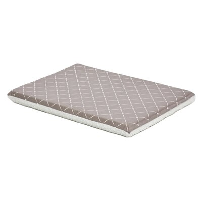 Quiet Time Reversible Pad Color: Mushroom/Fleece, Size: 24 W x 35.75 D x 2.25 H