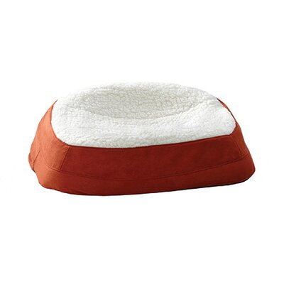 "Rectanglular Dish Dog Pillow Size: Small (23.75"" L x 17"" W ), Color: Spice"