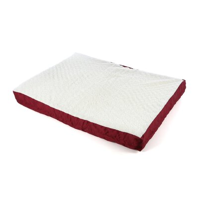 Quiet Time eSensuals Double Thick Orthopedic Dog Pillow Size: X-Large (48 W x 36 D), Color: Burgundy