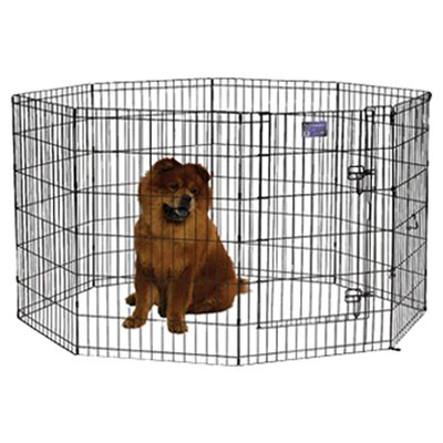 Apollo Black E-Coat Exercise Pet Pen Size: Small (30 H x 24 W)