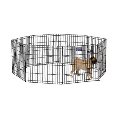 Black E-Coat Exercise Pet Pen Size: X-Small (24 H x 24 W)
