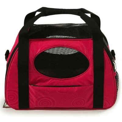Carry-Me Fashion Pet Carrier Size: 13.5 H x 10 x 20 L, Color: Raspberry Sorbet