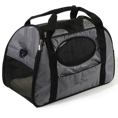 Carry-Me Fashion Pet Carrier Size: 13.5 H x 10 x 20 L, Color: Gray Shadow