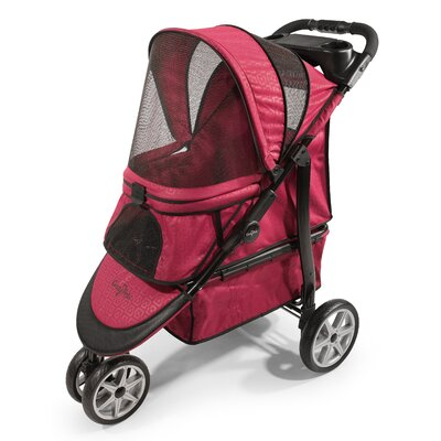 Platinum Monaco Pet Stroller Color: Red