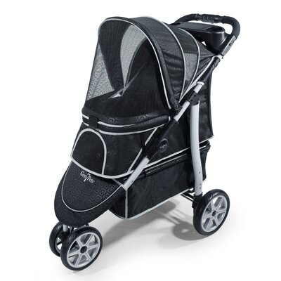 Platinum Monaco Pet Stroller Color: Black