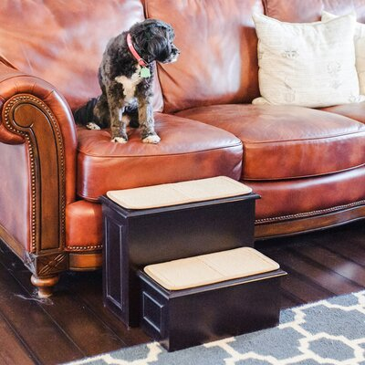 Deluxe Wood 2 Step Pet Stair Color: Espresso