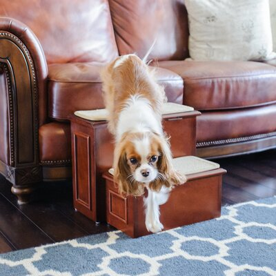 Deluxe Wood 2 Step Pet Stair G7250CH