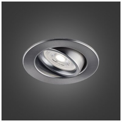Flex 3.75 LED Recessed Lighting Kit Trim Color: Brushed Chrome