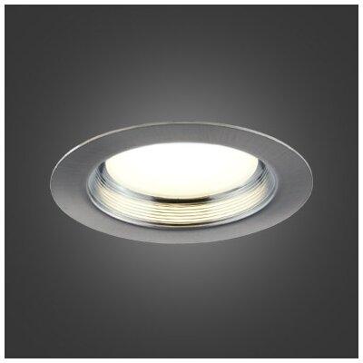 5 LED Recessed Lighting Kit Trim Color: Brushed Chrome