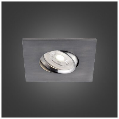 3.75 LED Recessed Lighting Kit Trim Color: Brushed Chrome