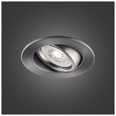 3.75 LED Recessed Lighting Kit Trim Finish: Brushed Chrome