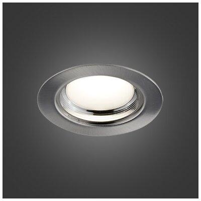 3.75 LED Recessed Lighting Kit Trim Color: Brushed Chrome