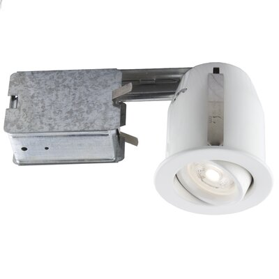 3.75 LED Recessed Lighting Kit Trim Finish: Matte White
