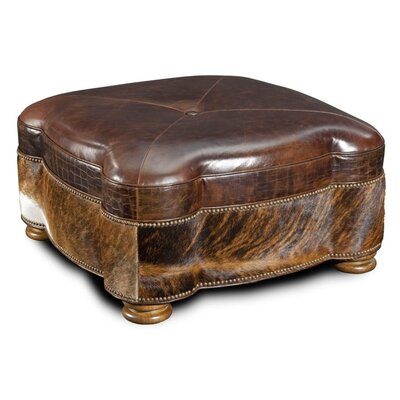 Capri Cocktail Leather Ottoman
