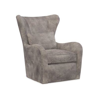 Skye Swivel Wingback Chair Body Fabric: 913100-84