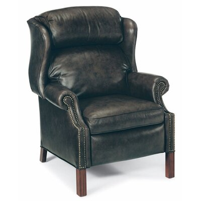 Chippendale Wing Leather Recliner