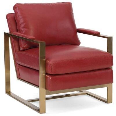 Jada Armchair Finish: Brass, Upholstery: 911300-92