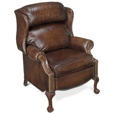 Maxwell Ball and Claw Wing Leather Recliner