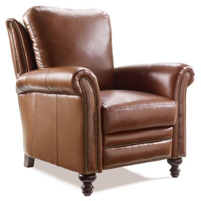 Richardson High Leg Leather Recliner 4866901200-65CB-ANTIQUE