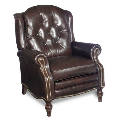 Victoria High Leg Leather Recliner 4275901200-65CB-ANTIQUE