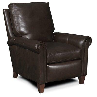 Haskins 3-Way Leather Recliner Upholstery: Dark Brown