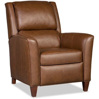 Roswell 3-Way Leather Recliner Finish: Brown, Upholstery: Brown