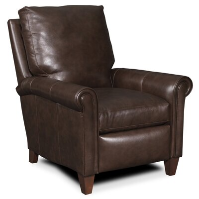 Haskins 3-Way Leather Recliner Upholstery: Light Brown
