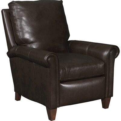 Haskins 3-Way Leather Manual Recliner Upholstery: Dark Brown