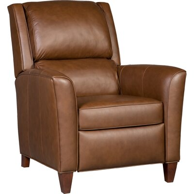Roswell 3-Way Leather Manual Recliner Upholstery: Brown, Finish: Brown