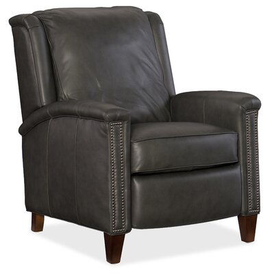 Leather Manual Recliner Body Fabric: Empyrean Charcoal