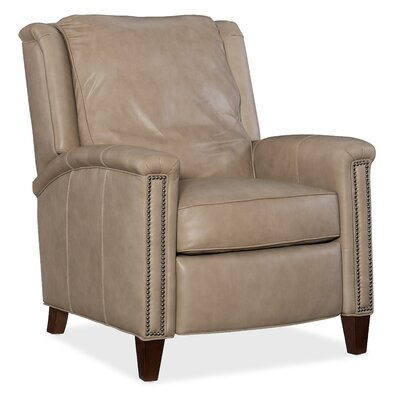 Leather Manual Recliner Body Fabric: Empyrean Tweed