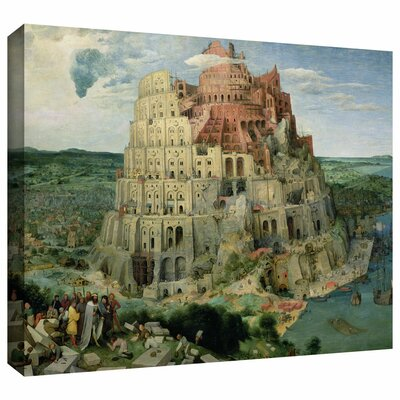 "'Tower of Babel' by Pieter Bruegel  Painting Print on Wrapped Canvas Size: 18"" H x 24"" W Bruegel-004-18x24-w"