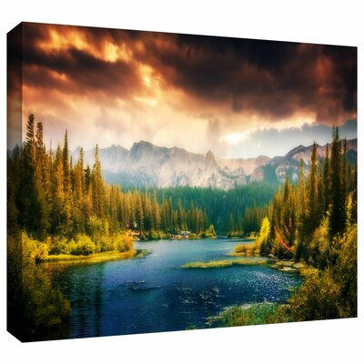 'Mountain View' by Revolver Ocelot Photographic Print on Wrapped Canvas Size: 12
