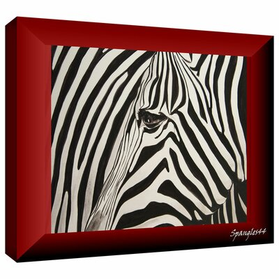 'Zebras Abstract' by Lindsey Janich Graphic Art on Wrapped Canvas Size: 32