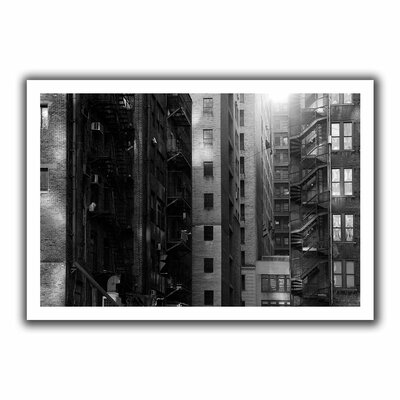 "Buildings' by John Black Photographic Print on Rolled Canvas Size: 16"" H x 22"" W Oce030-12x18"