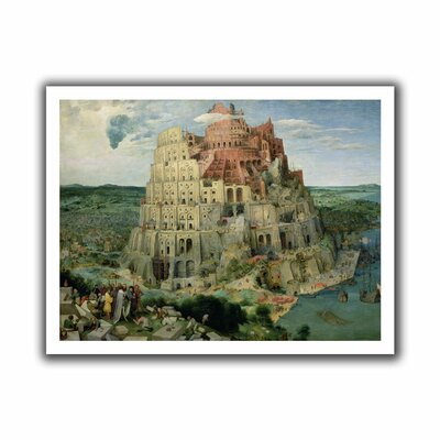 "Tower of Babel' by Pieter Bruegel Painting Print on Rolled Canvas Size: 18"" H x 22"" W Bruegel-004-14x18"